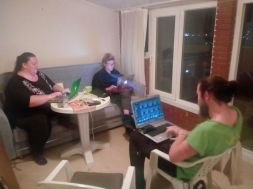 evening laptoping
