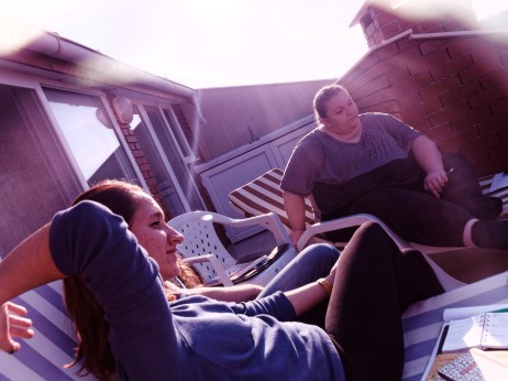 rooftop morning meeting